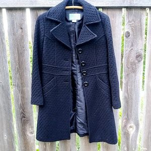 Nine West black pea coat
